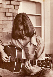 Basil  on the porch in 1972