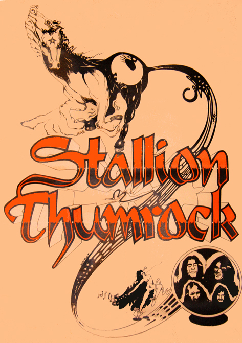 The original 1971 Stallion Thumrock poster