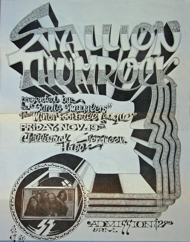 Original 1971 Stallion Thumrock poster - Chris Blades, Artist