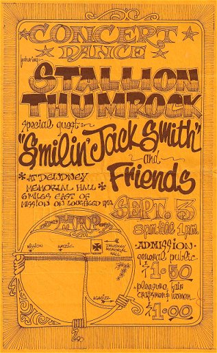 Stallion Thumrock and Smilin Jack Smith poster from the early '70s